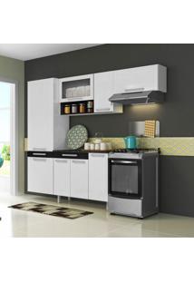 Cozinha Compacta New City 8 Pt Branco E Preto