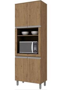 Paneleiro Torre Quente 4 Portas Com Espaço Para Microondas Integra Rústico - Henn