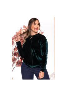 Jaqueta Bomber Veludo Casaco M&A Modas Verde