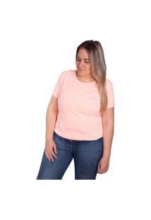 Camiseta Birdz Estampada Laranja Claro