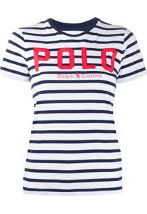 Polo Ralph Lauren Camiseta Com Estampa De Listras - Azul