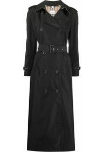 Burberry Trench Coat Clássico - Preto