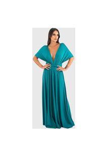 Vestido Ballad Varias Formas Verde Agata