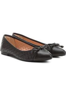Sapatilha Shoestock Matelassê Bico Fino Feminina