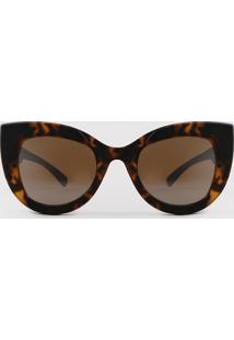 Óculos De Sol Gatinho Feminino Triya Tartaruga