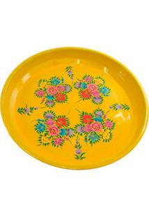 Bandeja Floral Yellow 33X33X3Cm Trevisan Concept