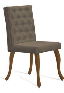 Cadeira Juliete T1172 Com Capitonê-Daf Mobiliário - Dourado
