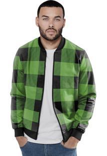 Jaqueta Bomber Chess Clothing Xadrez Verde