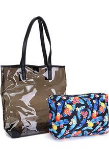 Bolsa Pagani Tote Bag Feminina - Feminino-Preto