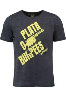 Camiseta Rokbox Plata O Burpess Amarela - Masculino