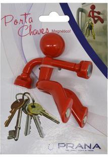 Porta Chaves Abs Vermelho Com 4 Imãs Prana - Hjn12102