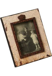Porta-Retrato De Madeira Decorativo Silvina