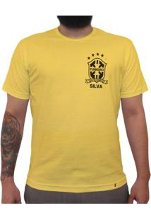 Silva (Brasão Preto) - Camiseta Clássica Premium Masculina