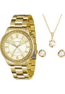 Kit Relógio Feminino Lince Lrg4339L K225C2Kx