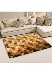 Tapete Sala Wevans Multi Triângulos Dourado