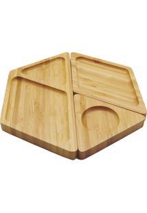 Petisqueira De Bambu Hexagonal Desmontável- Oikos