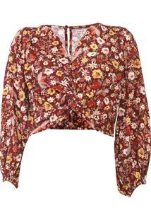 Blusa Cropped Dress To Liberty Framboesa Vinho