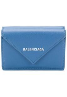 Balenciaga Carteira Papier Mini - Azul