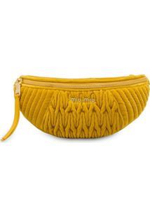 Miu Miu Matelassé Belt Bag - Amarelo