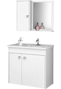Conjunto P/ Banheiro Munique Branco Móveis Bechara