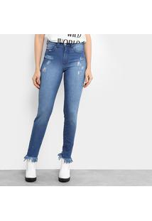 454774522 ... Calça Jeans Skinny Colcci Base Bia Cintura Alta Feminina - Feminino- Jeans
