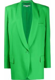 Stella Mccartney Blazer Allison De Alfaiataria - Verde
