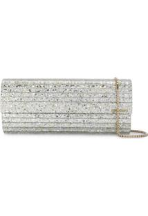 Jimmy Choo Clutch Sweetie Com Brilho - Metálico