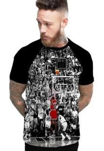 Camiseta Stompy Raglan Modelo 137 Masculina - Masculino-Preto