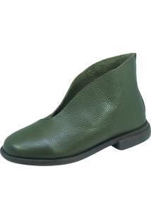 Bota S2 Shoes Jessica Couro Verde Militar