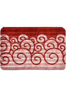 Capacho Carpet Ondas Vermelho Único Love Decor