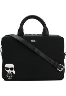 Karl Lagerfeld Bolsa De Laptop 'Ikonik' - Preto