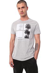 Camiseta Calvin Klein Jeans American Summer Cinza