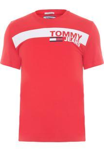 Camiseta Masculina Essential Box Logo - Vermelho