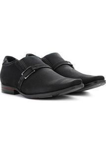 Sapato Social Couro Pegada Com Fivela Masculino - Masculino-Marinho