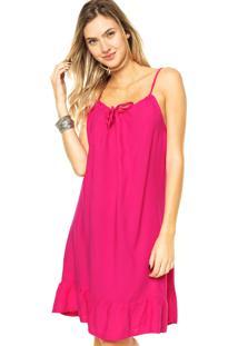 Vestido Mercatto Lacinho Rosa