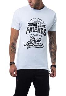 Camiseta Ukkan Good Friens Branco