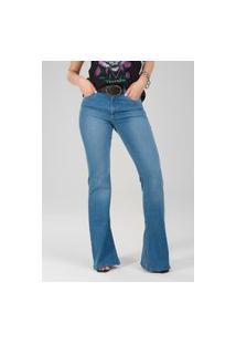 Calça 4089 Jeans Flare Traymon Azul Claro