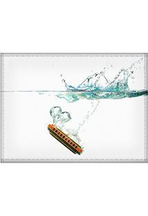 Jogo Americano Decorativo, Criativo E Descolado | Gaita Com Efeito Submarino - Tamanho 30 X 40 Cm