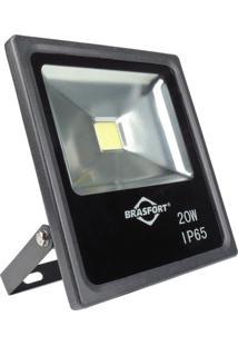 Refletor De Led Brasfort Silm 20W 6500K Ip65 Bivolt