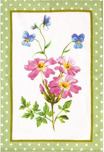 Pano De Copa 45X65Cm Felpudo Döhler Floral Aquarela Floral Aquarela