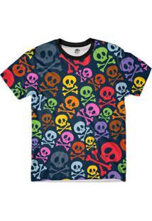 Camiseta Bsc Caveira Pretoidas Full Print Masculina - Masculino