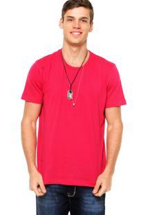 Camiseta Manga Curta Colcci Slim Vinho