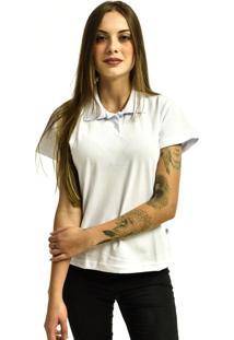 Camiseta Rich Young Pólo Básica Lisa Manga Curta Branca - Kanui