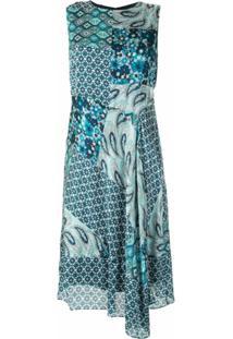 Elie Tahari Vestido Azure Com Estampas - Azul