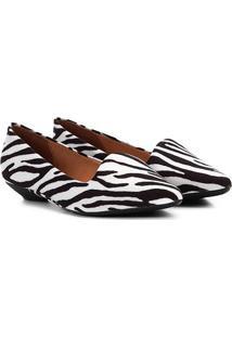 Sapatilha Vizzano Slipper Zebra Feminina - Feminino-Branco
