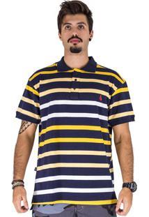 Camisa Polo Simple Skateboard Amarelo