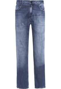 Calça Masculina Jeans Five Pockets Relaxed Straight - Azul