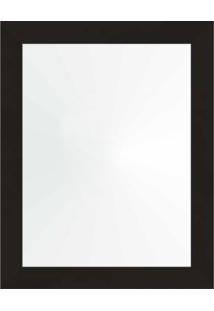 Espelho 38X48 Moldura 4Cm Reta Preta
