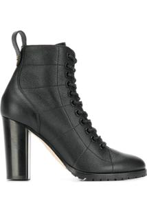 Jimmy Choo Lace Up Ankle Boots - Preto