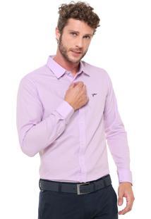 Camisa Yachtsman Reta Padronagem Rosa